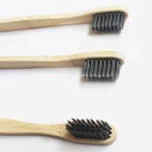 Escova de dentes de bambu ecológica verde pequena Escova de carvão de cabelo