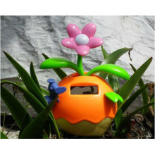 Orange color Lucky solar power dancing flowers high quality