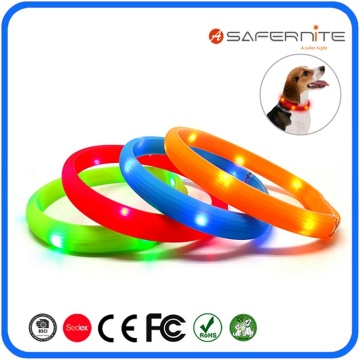 Usb Led Light Up Flashing Pets Dog Collar