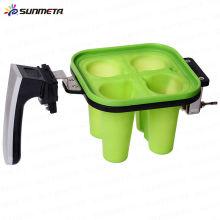 Abrazadera de silicona para 3d sublimación pequeña abrazadera de cristal de vino para la máquina de sublimación 3d