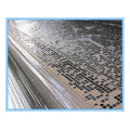 Geogrid de fibra de vidro revestida de betume 50 / 50kn / M para reforço de asfalto