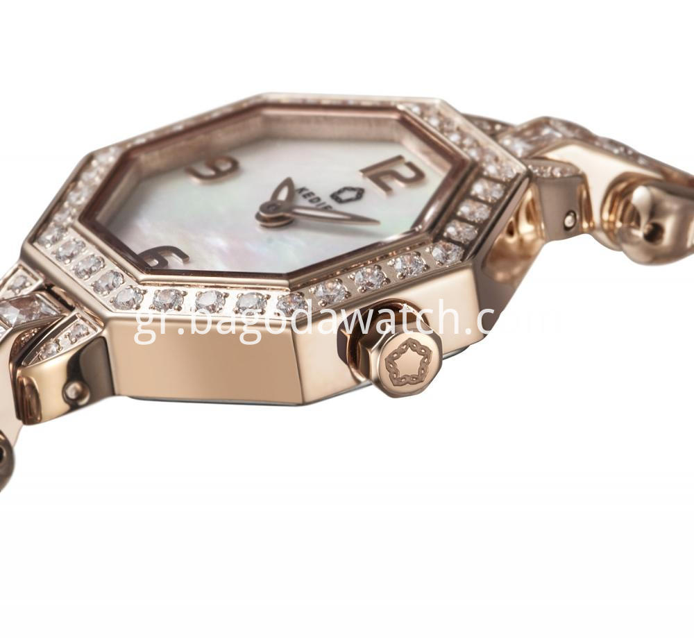 Gold Pvd Ladies Watch