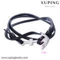 bracelet-232 Xuping vente chaude bijoux de mode en acier nouveau design bracelet d'ancrage en cuir