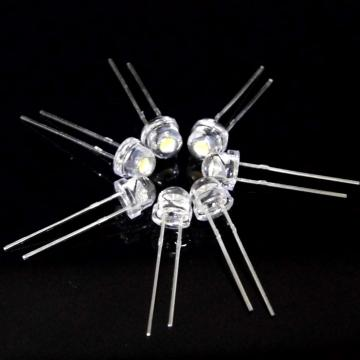 5mm Cool White LED 5-6lm Straw Hat