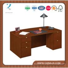 Bow Front Desk mit verschlossenen Schubladen