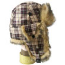 Sombrero de invierno caliente sombrero con piel (VT014)