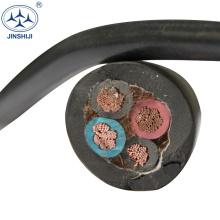 Fabricante de cobre condutor h07rh-f de borracha 4 núcleo 16mm cabo flexível h07rn-f 3g1.5