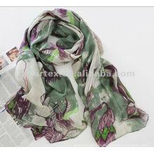 Romance projeta 75D impresso Chiffon tecido para cachecol
