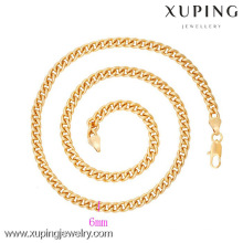 42623 Joyería al por mayor del collar de cadena plateado oro de Xuping Xuping