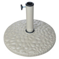 10KGS exterior blanco redondo resina Base del paraguas