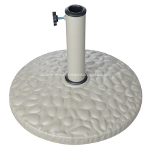 Outdoor 10KGS White Round Resin Umbrella Base