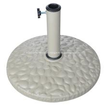 10KGS exterior branco redondo resina Base de guarda-chuva