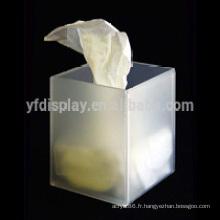 Boîte de tissu acrylique sur mesure