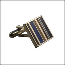 Metal Striation Design Cufflink Nickle Plated Cufflink (GZHY-XK-016)