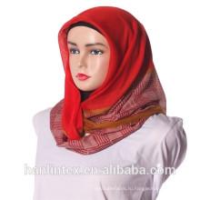 Полиэфирная ткань с вуалью из вуали, материал для платка для Индонезии, закрытый конец 50s 60s