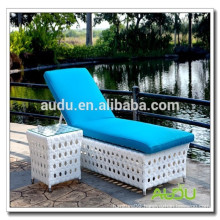 Audu Aluminium Outdoor Rattan Commercial Beach Chairs