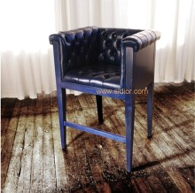 (CL-4401) Antique Hotel Restaurant Furniture Leather Wooden High Bar Chair
