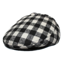 Winter Warm Plaid IVY Cap with Earflap and Top Button