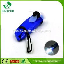 Regalo promocional con correa personalizada ventilador de mano de plástico