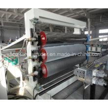 Linha de produção plástica da extrusão da placa da folha do PVC / PP / PE / PS