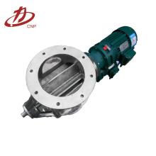 Шлюзовой роторный клапан установите в нижней части пылеуловителя
