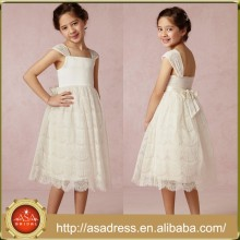 BHL01 Latest Dress Design Pretty Flower Girl Dress Princess Lace Mid-Calf Dresses for Girls of 7 Years Old