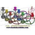 Portable New Design Covered Colorful Mini Hookah With Round Vase