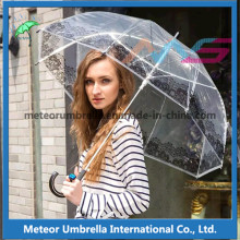 New Item Fancy Clear Transparent Plastic Umbrella for Sale