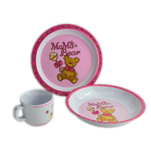 3PCS Melamine Kids Tableware Set