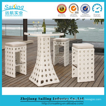 2016 Cheap Rattan Wicker Outdoor Bar Table and Stools