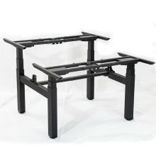 Электрический стоячий стол с двумя сиденьями, двойной рабочий стол