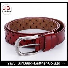 Hot Sell Split Leather Punching Belt for Women