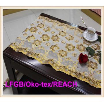 Vinyl Golden Lace Table Runner Rolls Factory