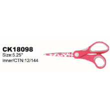 Scissors with Red Plastic Handle