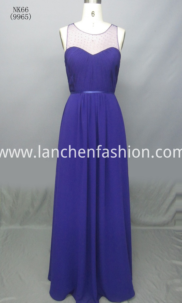 A Line Chiffon Evening Gown