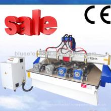 Эле-2015 4Д 4 оси с ЧПУ маршрутизатор гравер машина с 4 установлено поворотное устройство