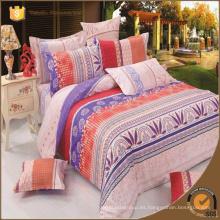 Conjuntos de edredón de lujo colcha en el cojín de la bolsa tamaño de la reina tamaño completo algodón impreso conjunto de ropa de cama