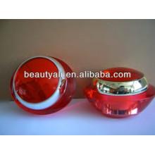15ml 30ml 50ml Frasco de acrílico cosmético de crema roja con el tarro interno de los PP