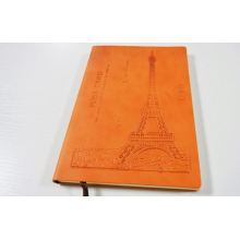 caderno de diário personalizado de couro notebook personalizado