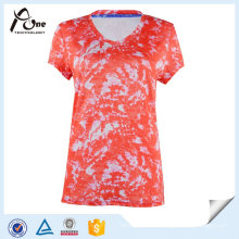 Sublimated Girls Tops T-Shirts Fashion Sports Wear in Wholesale