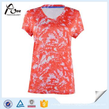 Сублимированный девочки топы T-рубашки мода Спортивная одежда по оптовой