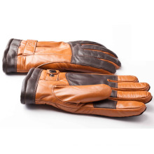 Herrenmode Schaffell Leder Motorrad fahren Sport Handschuhe (YKY5189)