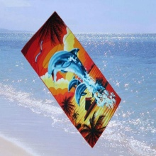 Microfiber Warp Beach Towel With  Printing