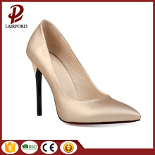 beige high heel good quality wedding shoes