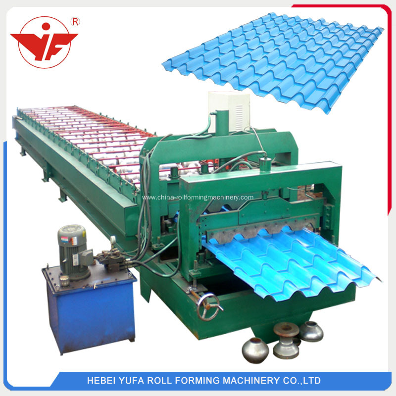 Step tile roof making machine