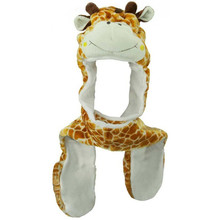 Cute design Giraffe Animal Hat with Scarf and Mitten