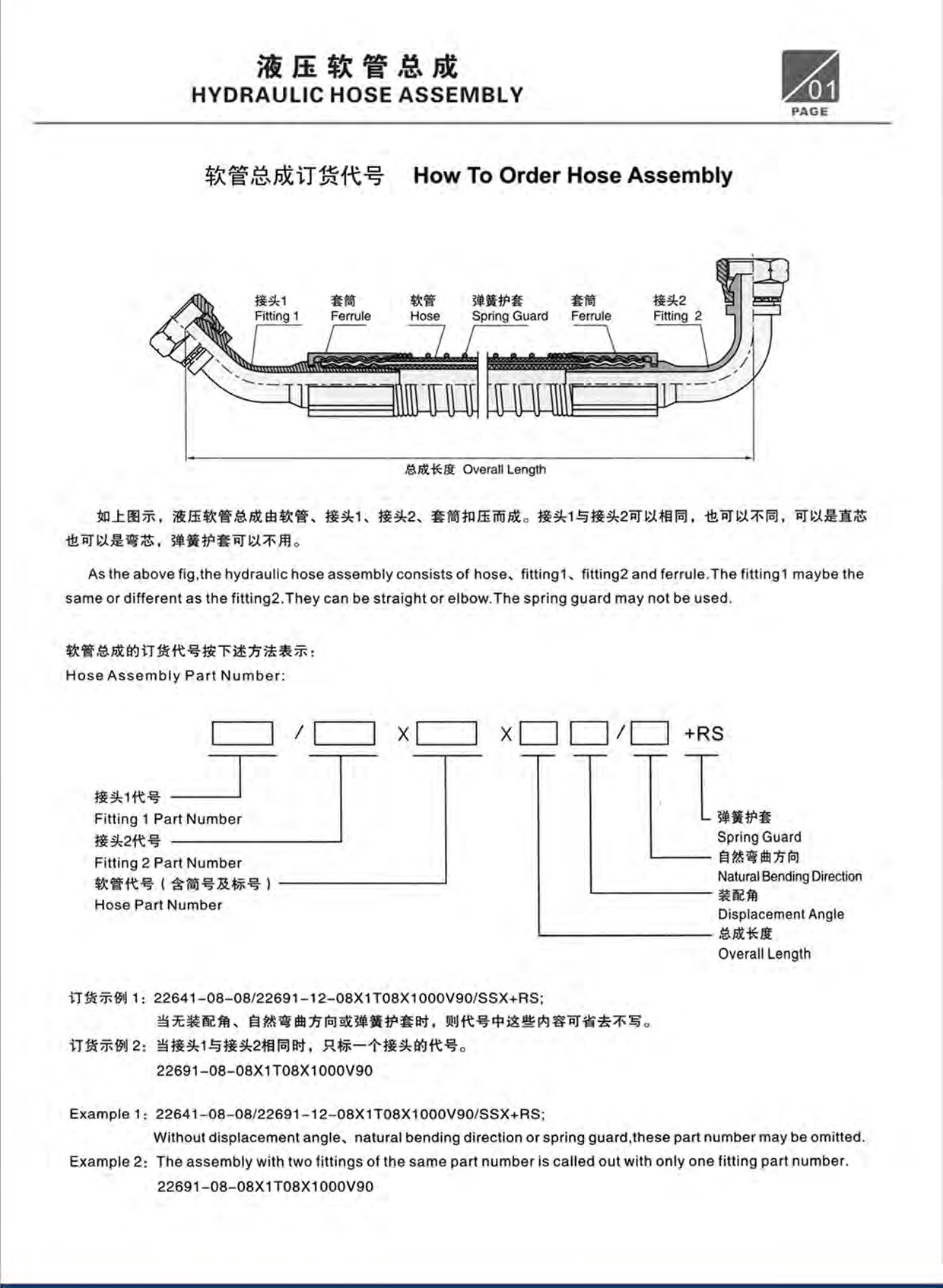 Hydraulic Tube Assembly