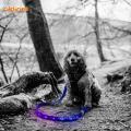 New Rechargeable RGB Led Rainbow Dog Leash
