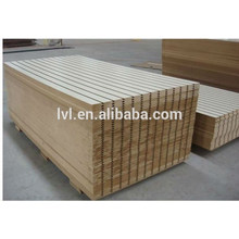Slotted MDF board for supermarket