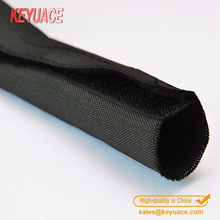 Polyester textile self-closing spinning sleeving